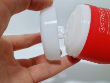 ディープスロートカップを開ける