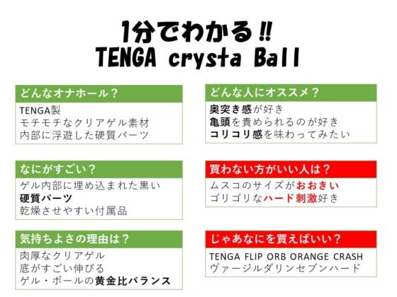 1分でわかるTENGA crysta Ball