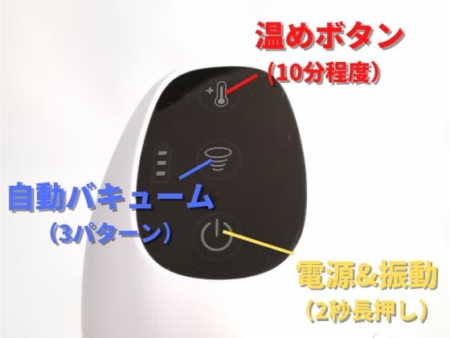 TRYFUN(トライファン)のボタン説明